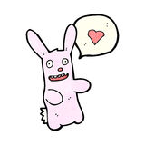 Cartoon rabbit with love heart Royalty Free Stock Image