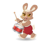 Cartoon rabbit musician. Vector Stock Images