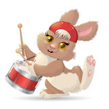 Cartoon rabbit musician. Vector Royalty Free Stock Image