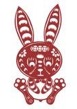 Cartoon rabbit paper cut Royalty Free Stock Image
