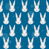 Cartoon rabbit portrait seamless pattern background Stock Image
