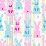 Cartoon rabbit repetitions Stock Photography