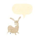 Cartoon rabbit with speech bubble Stock Photo