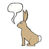 Cartoon rabbit with speech bubble Stock Images