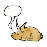 Cartoon rabbit with speech bubble Royalty Free Stock Photography