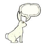 cartoon rabbit with speech bubble Stock Image