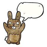 Cartoon rabbit with speech bubble Royalty Free Stock Image