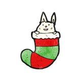 Cartoon rabbit in stocking Stock Photography