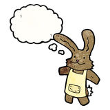 cartoon rabbit with thought bubble Stock Photo