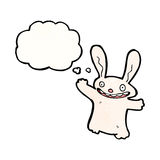 cartoon rabbit with thought bubble Royalty Free Stock Images