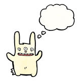 Cartoon rabbit with three eyes Royalty Free Stock Image