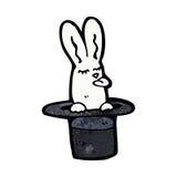 Cartoon rabbit in top hat Stock Photos