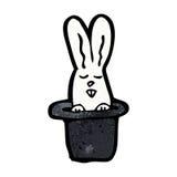Cartoon rabbit in top hat Royalty Free Stock Photos