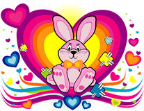 Cartoon rabbit vector Royalty Free Stock Image
