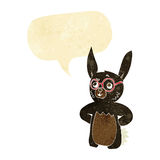 Cartoon rabbit wearing spectacles with speech bubble Stock Images
