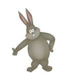 Cartoon rabbit on a white background. Vector illustration Stock Photos