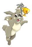 Cartoon rabbits - champions -  Stock Images