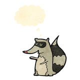 Cartoon raccoon with thought bubble Stock Photo