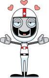 Cartoon Race Car Driver Robot Hug Royalty Free Stock Photo
