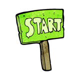 Cartoon race start sign Royalty Free Stock Images