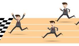 Cartoon racing businessman Stock Photography