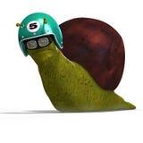 Cartoon Racing Snail vector illustration
