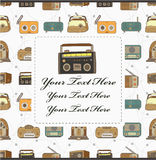 Cartoon radio card Stock Photo
