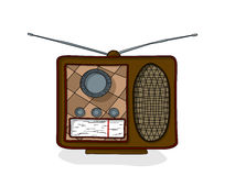 Cartoon radio drawing Royalty Free Stock Photography