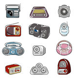 Cartoon radio icon Stock Images