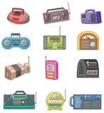 Cartoon radio icon. Vector drawing Royalty Free Stock Photo
