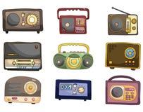 Cartoon radio icon. Drawing Stock Images