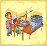 Cartoon radio illustration  , vector icon. Royalty Free Stock Photos