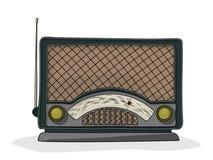Cartoon radio. Retro cartoon radio drawing over white background Royalty Free Stock Photo