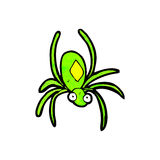 cartoon radioactive spider Stock Photos