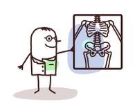 Cartoon radiologist Royalty Free Stock Photography