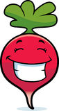Cartoon Radish Grinning Stock Images