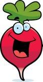 Cartoon Radish Smiling. A red cartoon radish smiling and happy Royalty Free Stock Photo