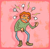 Cartoon rage illustration vector icon Stock Photos