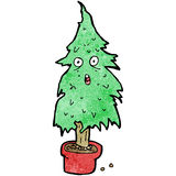 Cartoon ragged old christmas tree Stock Images