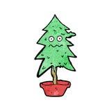 Cartoon ragged old christmas tree Stock Photo