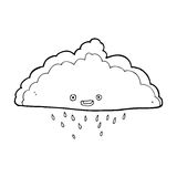 cartoon rain cloud Stock Photo