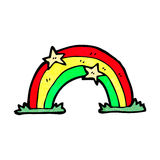 Cartoon rainbow Stock Photography