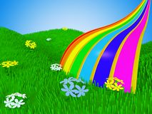 Cartoon rainbow Royalty Free Stock Image