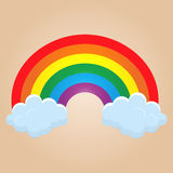 Cartoon rainbow Royalty Free Stock Photos