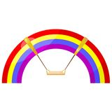 Cartoon rainbow swing. eps10 Royalty Free Stock Photography