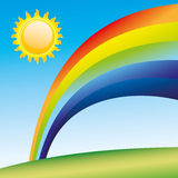 Cartoon rainbow. Stock Photos
