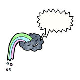 Cartoon raincloud Royalty Free Stock Photos