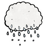 Cartoon raincloud Royalty Free Stock Photo