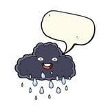 Cartoon raincloud with speech bubble Stock Image