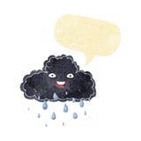 Cartoon raincloud with speech bubble Royalty Free Stock Photo